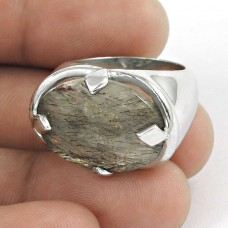 Passion ! Black Rutile Gemstone Silver Jewellery Ring