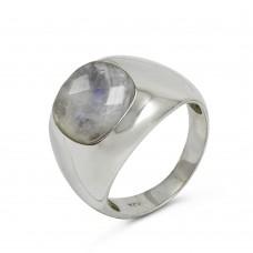 Beauty Queen !! Rainbow Moonstone Gemstone Silver Ring Jewellery