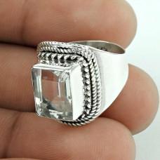 suave !! Crystal Gemstone 925 Sterling Silver Ring Exporter