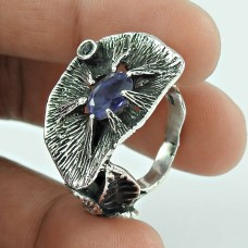 Falling In Love ! Iolite Gemstone Silver Jewellery Ring