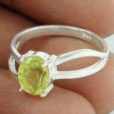 Indian Fashion ! Citrine 925 Sterling Silver Ring Jewellery