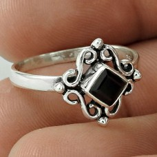 Quality Work ! Black Onyx Gemstone 925 Sterling Silver Ring Lieferant