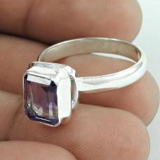 Bright Side ! Amethyst Gemstone 925 Sterling Silver Ring