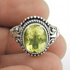 925 sterling silver Jewellery Fashion Lemon Topaz Ring