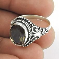 925 sterling silver fashion Jewellery Designer Smoky Quartz Ring