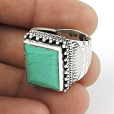925 Silver Jewellery Traditional Turquoise Gemstone Ring