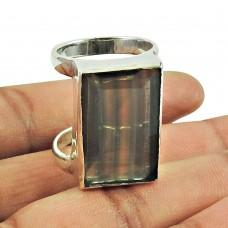 925 Silver Jewellery Party Wear Fluorite Gemstone Ring Manufacturer