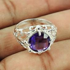 925 Sterling Silver Antique Jewellery Party Wear Amethyst Gemstone Ring Supplier