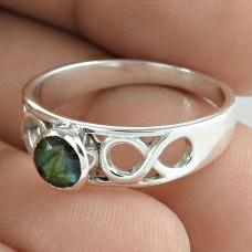 Latest Trend Labradorite Gemstone 925 Sterling Silver Ring Vintage Jewelry