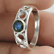Fashion Labradorite Gemstone 925 Sterling Silver Ring Antique Jewelry