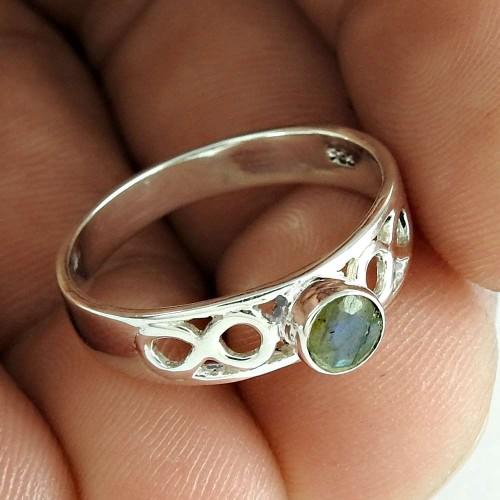 Handmade 925 Sterling Silver Labradorite Gemstone Ring