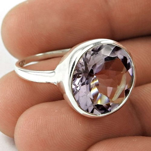 Possessing Good Fortune 925 Sterling Silver Amethyst Gemstone Ring Traditional Jewelry