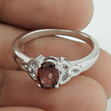 Magical Garnet Gemstone 925 Sterling Silver Rhodium Plated Wedding Ring