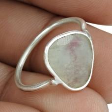 Pretty 925 Sterling Silver Rainbow Moonstone Gemstone Ring Jewelry Proveedor