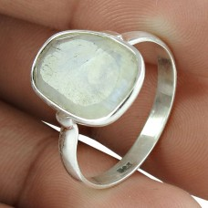 Party Wear 925 Sterling Silver Rainbow Moonstone Gemstone Ring Ethnic Jewelry