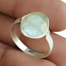 Party Wear 925 Sterling Silver Rainbow Moonstone Gemstone Ring Ethnic Jewelry Wholesaling