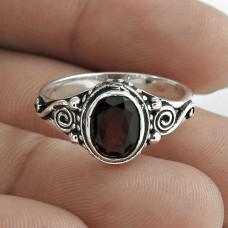 Daily Wear 925 Sterling Silver Garnet Gemstone Ring Jewelry