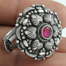 Possessing Good Fortune 925 Sterling Silver Ruby Gemstone Ring Traditional Jewelry