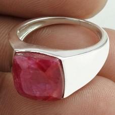 Pleasing 925 Sterling Silver Ruby Gemstone Ring Jewelry