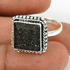 Black Sunstone Ring Size 8 925 Sterling Silver Ethnic Jewelry SK23