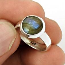 Labradorite Gemstone Ring Size 6 925 Sterling Silver Ethnic Jewelry SK45