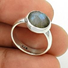 Labradorite Gemstone Ring Size 6 925 Sterling Silver Stylish Jewelry SK47
