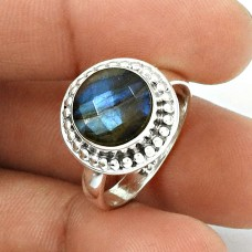 Natural LABRADORITE Gemstone Ring Size 8 925 Silver HANDMADE Jewelry GG26