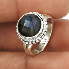 HANDMADE 925 Silver Jewelry Natural LABRADORITE Gemstone Ring Size 6 LK1