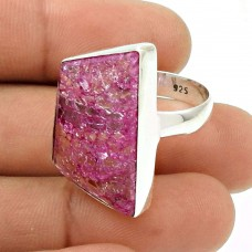 Natural SNAKE RUTILE Gemstone Ring Size 8 925 Silver HANDMADE Fine Jewelry ST5