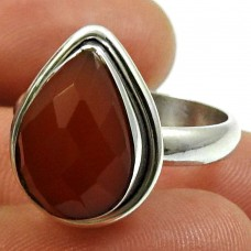 Carnelian Gemstone Ring 925 Sterling Silver Handmade Jewelry Y28