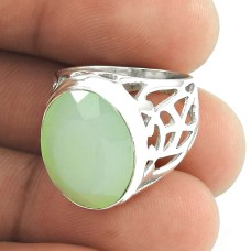 Natural!! 925 Silver Chalcedony Ring