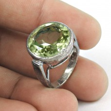 Possessing!! 925 Sterling Silver Green Amethyst Ring