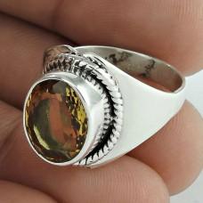 925 Silver Jewellery Designer Citrine Gemstone Ring Wholesale Price