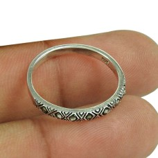 Rattling Sterling Silver Black CZ Gemstone Ring Fashion Jewellery