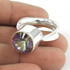 925 Sterling Silver Fashion Jewellery Designer Mystic Topaz Gemstone Ring