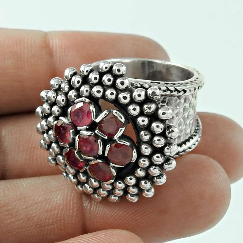 Spell! 925 Silver Ruby Ring