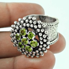 Misty Morning! 925 Silver Peridot Ring