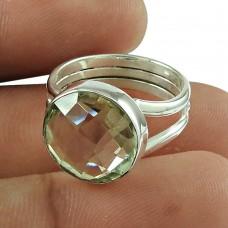 Rare Green Amethyst Gemstone Ring 925 Sterling Silver Fashion Jewellery Supplier