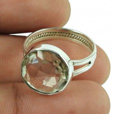 Designer Green Amethyst Gemstone Ring 925 Sterling Silver Indian Jewellery
