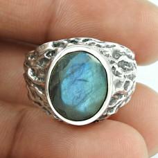 Misty Morning!! 925 Silver Labradorite Ring
