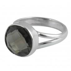 Pale Beauty 925 Silver Smoky Quartz Ring