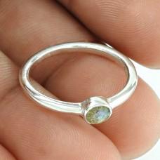 Daily Wear 925 Sterling Silver Labradorite Gemstone Ring Jewellery