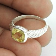 Jumbo Fantastic 925 Silver Citrine Ring