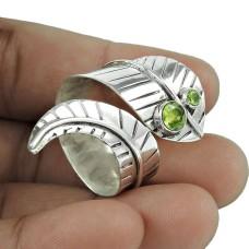 Amazing Design 925 Silver Peridot Ring Fabricante