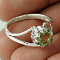 Secret Purple! 925 Silver Green Amethyst Ring