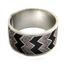 New Faceted!! 925 Sterling Silver Enamel Ring Supplier India