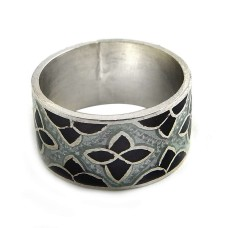 Lilac Kiss!! 925 Sterling Silver Enamel Ring Hersteller