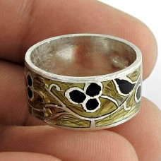 Briliance!! 925 Sterling Silver Enamel Ring