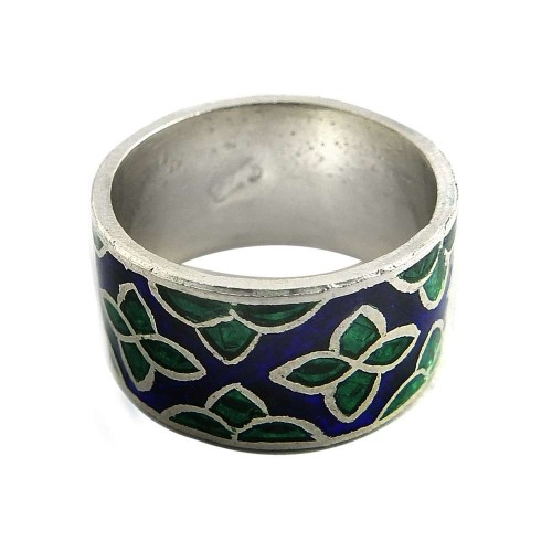 Passionate Modern Style Of!! 925 Sterling Silver Enamel Ring Exporter