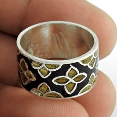 Fantastic Quality Of!! 925 Sterling Silver Enamel Ring